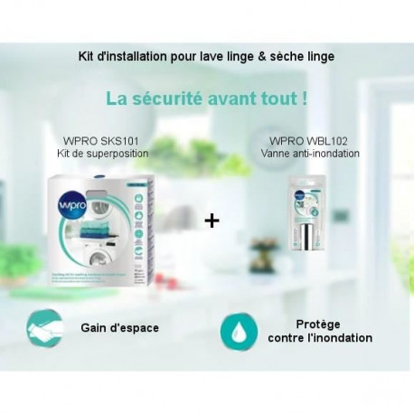 Pack Kit d'installation - Kit de superposition + Vanne anti-inondation