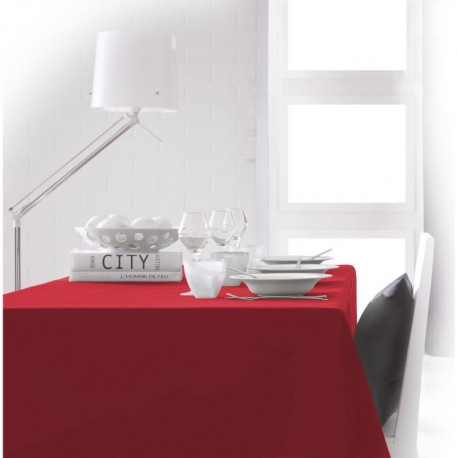 TODAY Nappe rectangulaire 150x250cm - Rouge Pomme d'amour
