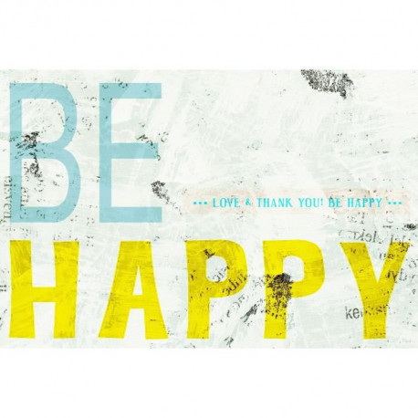 IMAGINE Tableau Be happy 40 x 60 cm