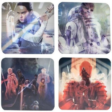 4 Dessous de verre lenticulaire Star Wars The Last Jedi