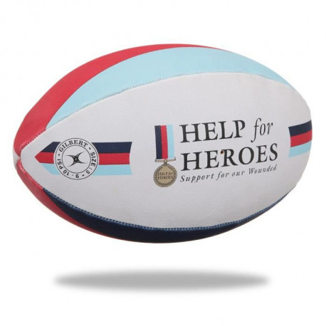 GILBERT Ballon de rugby SUPPORTER - Help the Heroes - Taille 5