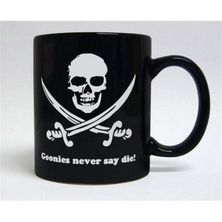 Mug WTT - The Goonies Never Say Die - Noir et blanc
