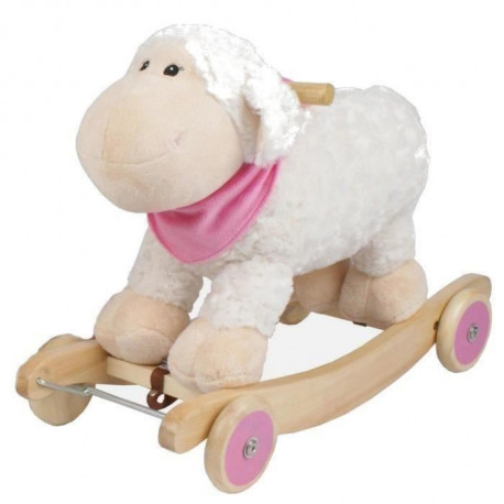 BAYER CHIC Mouton a Bascule Sonore avec Roues - Rosi