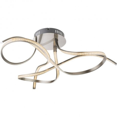 Plafonnier LED en nickel mat 31x72x72cm