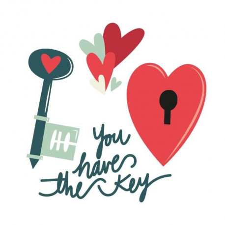 WALL IMPACT Sticker adhésif mural Your Heart Is My Home - 40 x 40 Cm