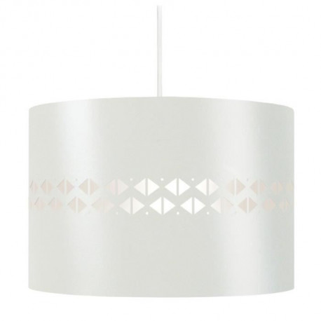 IKAT DIAMANTS Suspension tôle acier - 30x30x80 cm - Blanc