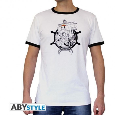 T-shirt Homme One Piece : Thousand Sunny - Blanc