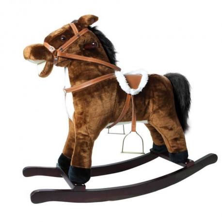 DECAR2 Cheval a Bascule Marron - 78x68x45 cm