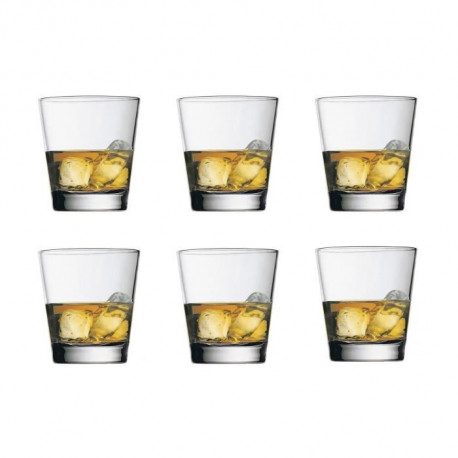 BORMIOLI ROCCO Lot de 6 chopes 23,8 cl transparent
