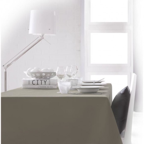 TODAY Nappe rectangulaire 140x200cm - Gris Mastic