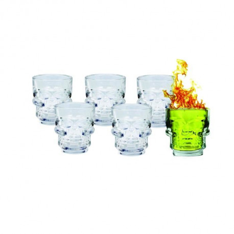 ARD'TIME Lot de 6 verres a shot - 5 cl