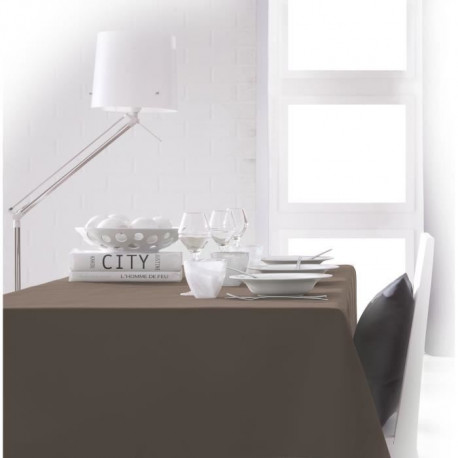 TODAY Nappe rectangulaire 140x200cm - Marron Bronze