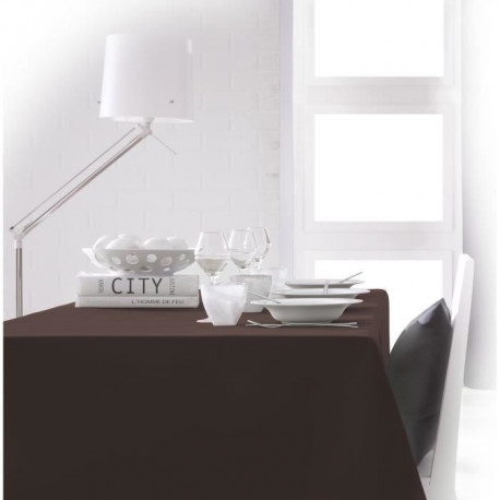 TODAY Nappe rectangulaire 140x200cm - Marron Cacao