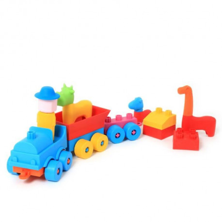 MGM Oliver l'explorateur - Train et personnages - 29 pieces - Grand modele - Mixte - A partir de 2 ans