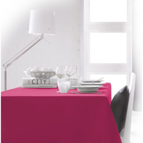 TODAY Nappe rectangulaire 150x250cm - Rose Jus de myrtille