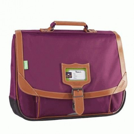 TANN'S Cartable - 2 Compartiments - Primaire - 38 cm - Prune - Enfant fille