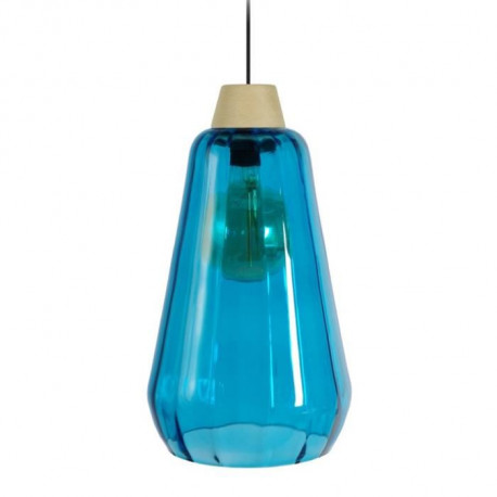KUOPIO OPTIQUE Suspension verre 23x23x90 cm Bleu