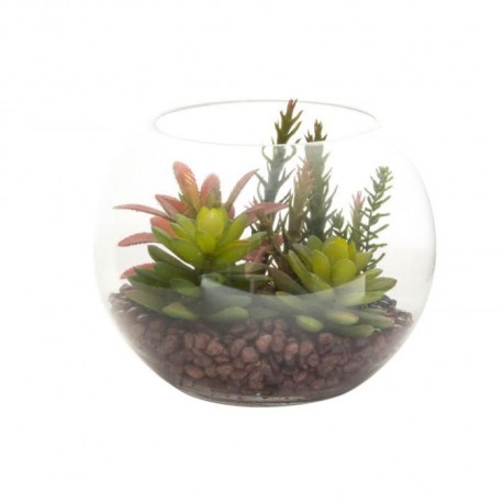 ITEM Plante artificielle pot déco - 19 x 15cm