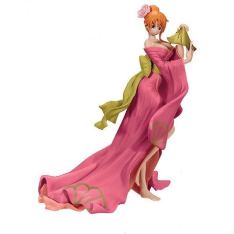 Figurine Banpresto One Piece Waso Komachi: Nami robe rose