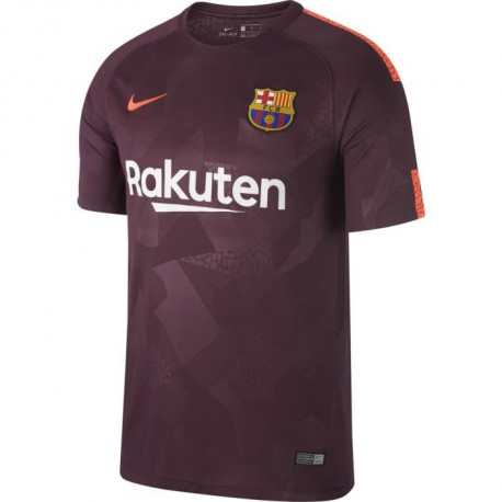 NIKE Maillot de Football FC Barcelone Third 2017 - Homme - Violet prune