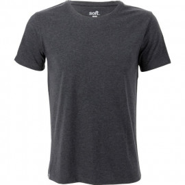 SOFTWEAR T-Shirt Homme Uni - Manches Courtes - Homme - Col Rond - Gris Anthracite