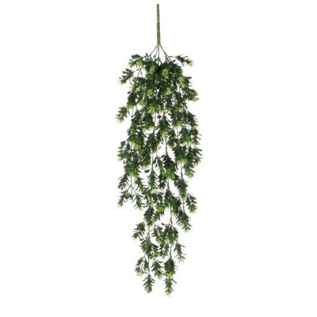 MICA DECORATIONS Lot de 2 Plantes artificielle a suspendre Schefflera - Vert