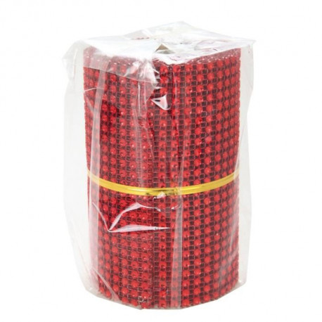 Chemin de table maille 8x2 m rouge