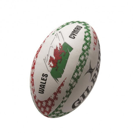 GILBERT Ballon de rugby MASCOTTES - Pays de Galles Land of my fathers - Taille 5