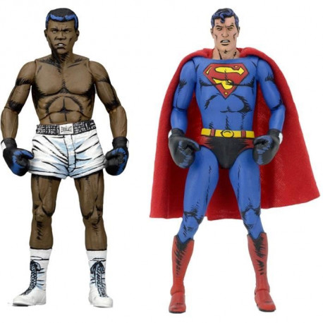 Pack de 2 Figurines DC Comics : Superman vs Muhammad Ali