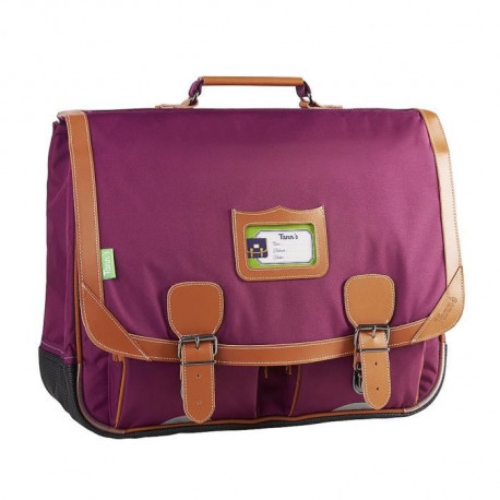 TANN'S Cartable - 2 Compartiments - Primaire - 41 cm - Prune - Enfant fille
