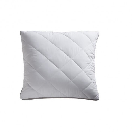 BULTEX Oreiller Supersoft Night déhoussable 60x60 cm blanc et anthracite