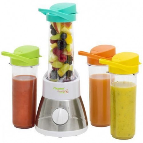 BESTRON AFM400 Blender - Fruits entiers et pur jus de fruits - Blanc  /  Inox