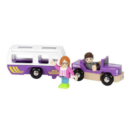 BRIO World  - 33949 - Jeep Et Caravane