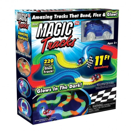 MAGIC TRACKS - Circuit lumineux + Voiture Bleue