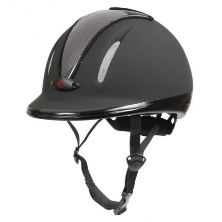 COVALLIERO Casque équitation carbonic junior - Anthracite