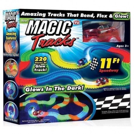 MAGIC TRACKS - Circuit lumineux + Voiture rouge