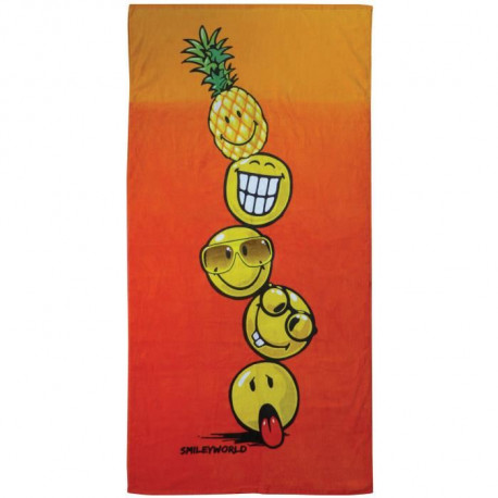 SMILEY COCKTAIL Drap de plage Coton 70x120cm