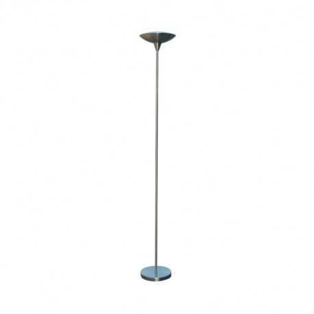 Lampadaire nickel satiné LED - Blanc neutre  H 181 cm - Ø 20cm