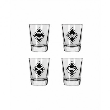 WTT DC UNIVERSE BATMAN VS SUPERMAN - Set de 4 Verres Shooter