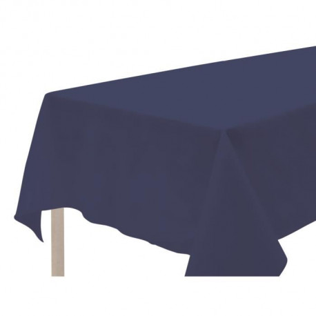 SOLEIL D'OCRE Nappe anti-tâches rectangle 140x240cm ALIX Marine