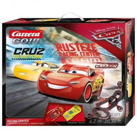Carrera Go!!! Circuit Electrique Disney / Pixar Cars 3 - Racing Center a l'échelle 1/43