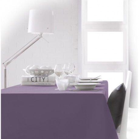 TODAY Nappe rectangulaire 140x200cm - Violet Figue