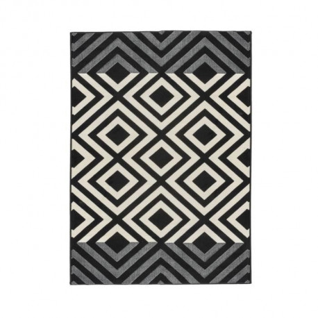 LUXUS Tapis de salon contemporain - 120x170cm - Noir