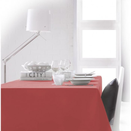 TODAY Nappe rectangulaire 140x200cm - Orange Corail