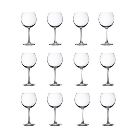 LIBBEY CLARET Lot de 12 verres a vin 19 cl transparent