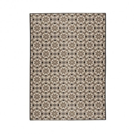 LUXUS Tapis de salon contemporain - 120x170cm - Cacao