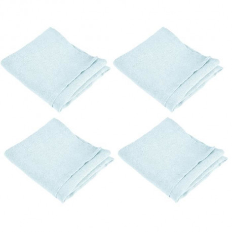 VENT DU SUD Lot de 4 serviettes de table SYMPHONIE 100% lin 50x50 cm aqua