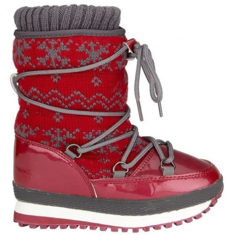WINTER-GRIP Apres-ski tricot - Enfant - Rouge
