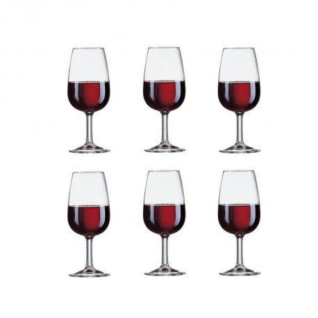 ARCOROC VITICOLE Lot de 6 verres a pied 21,5 cl transparent