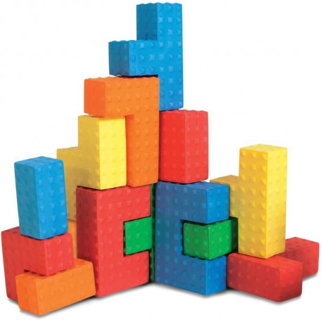 BSM Lot de 18 Pieces de construction mousse Edu Blocs sensoriels - Mixte - Livré a l'unité